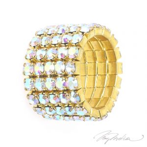 Anillo de Cristales  dorado STRASSARO de la Colección CORONA