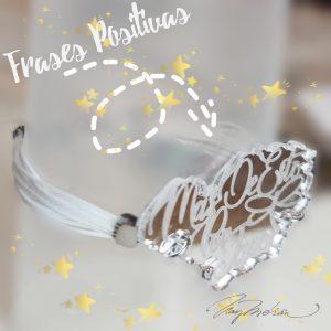 Pulsera Personalizada Frase Positiva con cordon ajustable. Personalizable