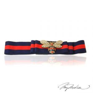 Cinturon ajustable y elástico ABEJA inspirado el diseño itaiano Azul